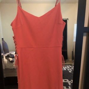 1.State Coral Dress